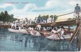 AK Brückenbau Der Pioniere - Feldpost - 1914 (14421) - Guerre 1914-18