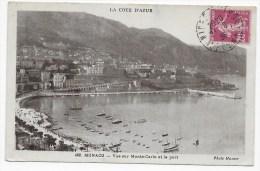 MONACO - N° 462 - VUE SUR LE PORT ET MONTE CARLO - BEAU CACHET - Hafen
