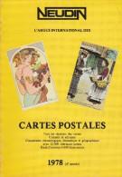 Argus International Des Cartes Postales NEUDIN 1978 ( Broché 260p.15,5 X 22) 12000 Rubriques Cotées / étude 4000 Illust. - Books