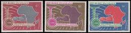RWANDA 1967 - Union Africaine Et Malgache De Télécommunications, PA 1/3 - 3 Val Neuf // Mnh - Poste Aérienne