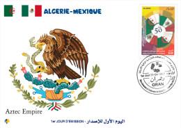 ALG Algeria N° 1712 FDC Aztec Empire - Aztec Calendar History - Astrology