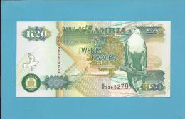 ZAMBIA - 20 KWACHA - 1992 - P 36.a - Sign. 10 - UNC. - Série A/C - Fish Eagle - 2 Scans - Zambie