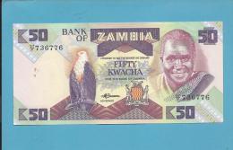 ZAMBIA - 50 KWACHA - ND ( 1986 - 88 ) - Pick 28 - Sign. 7 - President K. KAUNDA - 2 Scans - Zambie