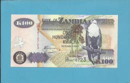 ZAMBIA - 100 KWACHA - 2005 - P 38.e - Sign. 12 - UNC. - Fish Eagle - 2 Scans - Zambia