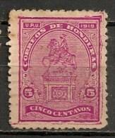Timbres - Amérique - Honduras - 1919/20 - Monument - 5 Centavos - - Honduras