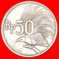 ★BIRD OF PARADISE★ INDONESIA★ 50 RUPIAH 1971!  LOW START ★ NO RESERVE!