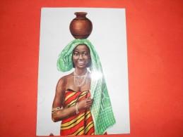 B641 Dar El Salaam Cost Woman Presenza Di Alcune Pieghe E Residui Carta Dove Manca Francobollo - Tanzania