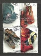 AUSTRALIEN 2005 BERÜHMTE SPORT MUSEUMSEXPONATE  Mi 2417/20 ZWEI ZD GEST - Usati