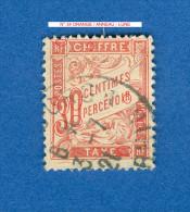 VARIETES FRANCE ANNEE 1893 - 1935 N° 34 ORANGE TAXE   OBLITERE DOS CHARNIERE  3 SCANNE DESCRIPTION - 1859-1955 Gebraucht
