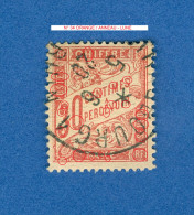 VARIÉTÉS TAXE 1893 - 1935 N° 34 ORANGE  5.6.20  OBLITÉRÉ DOS CHARNIÈRE 100.00 € - 1859-1955 Used