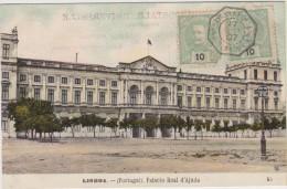 """## POSTE MARITIME -- LIGNE K  """"BUENOS AYRES A BORDEAUX"""" 1907SUR CARTE POSTALE DE LISBONNE -- - Poststempel (Briefe)"""