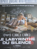 Plaquette 4 Pages : Le Labyrinthe Du Silence, Giulio Ricciarelli, 2015 - Cinemania