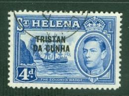 Tristan Da Cunha: 1952   KGVI 'Tristan Da Cunha' OVPT   SG6    4d     Used - Tristan Da Cunha