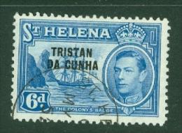 Tristan Da Cunha: 1952   KGVI 'Tristan Da Cunha' OVPT   SG7    6d     Used - Tristan Da Cunha