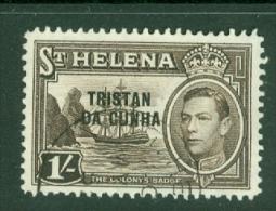 Tristan Da Cunha: 1952   KGVI 'Tristan Da Cunha' OVPT   SG9    1/-     Used - Tristan Da Cunha
