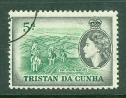 Tristan Da Cunha: 1954   QE II - Pictorial   SG21    5d     Used - Tristan Da Cunha