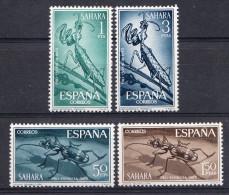 SAHARA 1965. EDIFIL Nº 242/245.PRO INFANCIA.INSECTOS  NUEVO  SIN   CHARNELA  SES372 - Sahara Español