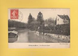 * CPA..dépt 77..CRECY En BRIE  :   Les Bords Du Morin..Scan B    : Voir Les  2 Scans - Autres Communes