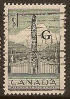 CANADA 1952 $1 Totem Official SG O195 U #MM13 - Officials