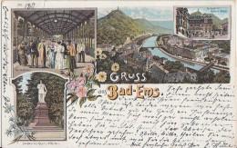 Litho Gruss Aus Bad Ems Gelaufen 2726.5.1897 - Deutschland