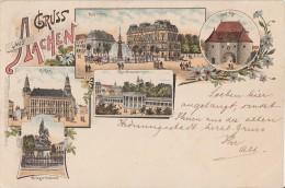 Litho Gruss Aus Aachen  Gelaufen 27.10.97 - Aachen