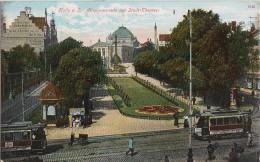 AK Halle/S. Alte Promenade Mit Stadt-Theater Color Gelaufen 17.4. - Halle (Saale)