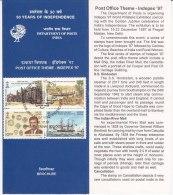 Stamped Information On Post Ofiice, Se-tenent INDEPEX Philately Exhibition Elephant Logo, Jal Cooper Ship,  India 1997 - India