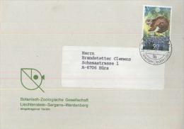9494 Schaan Wwf Putorius Iltis Liechtenstein - Lettres & Documents