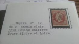 LOT 257141 TIMBRE DE FRANCE OBLITERE N�17A VALEUR 65 EUROS