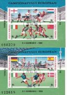 76  EUROPEAN CHAMPIONSHIP FOOTBALL,2X BLOCKS,1988,USED ROMANIA. - Championnat D'Europe (UEFA)