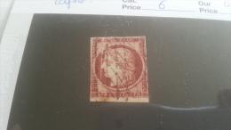 LOT 257186 TIMBRE DE FRANCE OBLITERE N�6