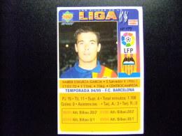 CROMO DE FUTBOL - FOOTBALL - Nº 177 TEMPORADA 94/95 VALENCIA C.F. - XABIER ESKURZA GARCIA - CENTROCAMPISTA - Cromos