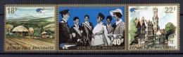 RWANDA 1972 - Belgica 72, Expo philatelique - 3 val Neuf // Mnh