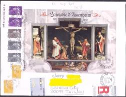 France Oblitération Cachet à Date BF N° F 4675 Retable D'Issenheim (lettre Ayant Circulée) - Sheetlets