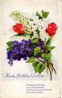 BIRTHDAY GREETINGS - Bunch Of Flowers  Used - Anniversaire