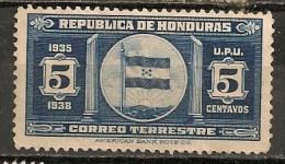 Timbres - Amérique - Honduras - 1935-1938 - 5 Centavos - - Honduras