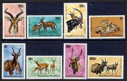 RWANDA 1975 - Faune Africaine, Antilopes - 8 val Neuf // Mnh