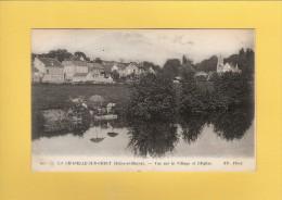 * CPA..dépt 77..La CHAPELLE Sur CRECY  :  Vue Sur Le Village Et L' Eglise..( Avec Des Laveuses )  : Voir Les  2 Scans - Autres Communes