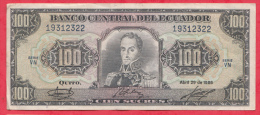 Equateur 100 Sucres Du 29/04/1986  (sign #) état - Ecuador