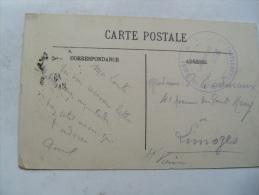 Menton Hopital Complementaire 39 Du Casino  Cachet Franchise Postale Guerre 14.18 - Poststempel (Briefe)