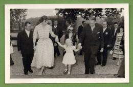 Le Président René Coty En Visite Au Luxembourg (mai 1957) Avec La Grande Duchesse Joséphine  Et Sa Fille Marie-Astrid - Familias Reales