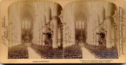 Belgica, Brussels, Cathedrale, Interior, Jarvis - Fotos Estereoscópicas