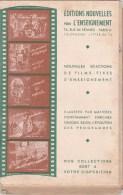 EDITIONS NOUVELLES POUR L'ENSEIGNEMENT-1948-s�lections de films fixes 35m/m d'enseignement