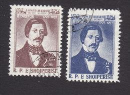 Albania, Scott #523-524, Used, Naum Veqiharxhj, Issued 1958 - Albania