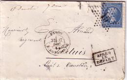 PARIS - ETOILE 15 - R.BONAPARTE - 17-12-1864 - N°22 OBLITERATION CENTRALE. - Marcophilie (Lettres)