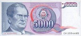 Yugoslavia 5000 Dinara 1985 Pick 93 UNC - Yougoslavie