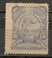 Timbres - Amérique - Honduras - 1892-1893 - 30 Centavos - - Honduras
