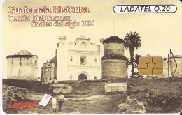 TARJETA DE GUATEMALA HISTORICA DEL CERRITO DEL CARMEN Nº1 (LADATEL) - Guatemala