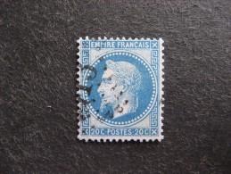 C). TB N° 29A , Oblitéré. Cote = 5 Euros. - 1863-1870 Napoleon III With Laurels