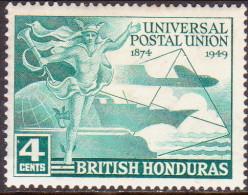 British Honduras 1949 SG #172 4c MLH OG UPU - Honduras Britannico (...-1970)